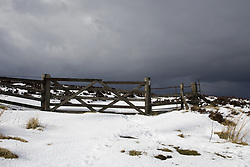 July 21, 2019 - Snowy Field And Fence, Weardale, England (Credit Image: © John Short/Design Pics via ZUMA Wire)