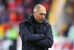 November 11, 2018 - Harrison, NJ, U.S. - Harrison, NJ - NOVEMBER 11:  Columbus Crew  coach Gregg Berhalter  during the second half of the Major League Soccer Eastern Conference Semifinals between the Columbus Crew SC and the NY Red Bulls on November 11, 2018 at Red Bull Arena in Harrison, NJ.   (Photo by Rich Graessle/Icon Sportswire) (Credit Image: © Rich Graessle/Icon SMI via ZUMA Press)