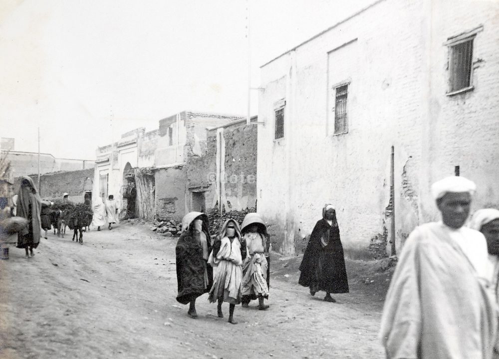 Morocco street scene early 1900s