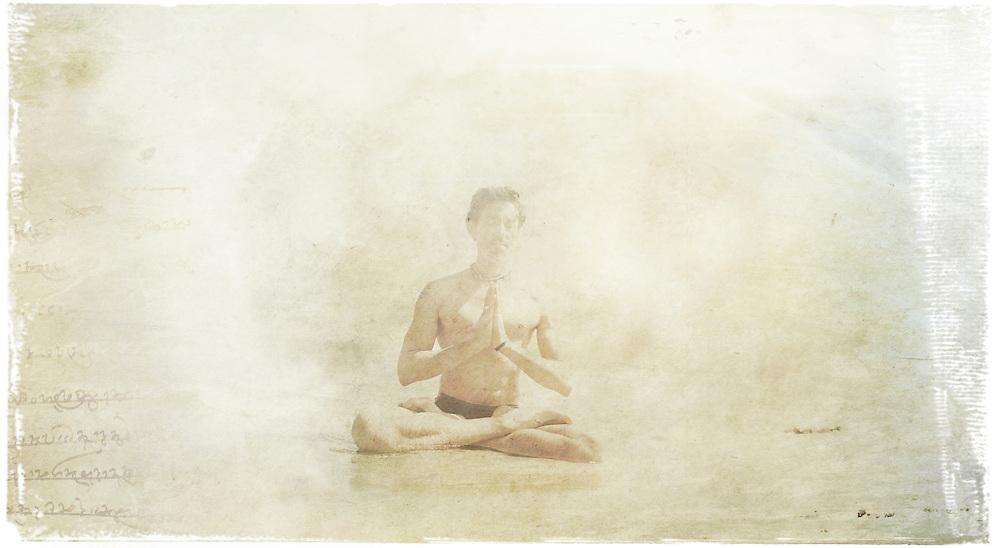Yogi in the beach