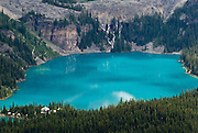 Lake O'Hara, Yoho National Park, British Columbia, Canada. This is part of the Canadian Rocky Mountain Parks World Heritage Site declared by UNESCO in 1984.
