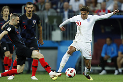 (l-r) Marcelo Brozovic of Croatia, Dele Alli of England during the 2018 FIFA World Cup Russia Semi Final match between Croatia and England at the Luzhniki Stadium on July 01, 2018 in Moscow, Russia