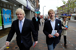 May 3, 2012 - London, United Kingdom - Photo filed Saturday 25th June 2016- Profile of Boris Johnson after The Prime Minister David Cameron Resigns London Mayor Boris Johnson with his brother Joe in Orpington during the Mayoral Campaign, London, UK, May 3, 2012. (Credit Image: © Andrew Parsons/i-Images via ZUMA Wire)