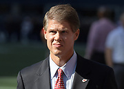 Aug 25, 2017; Seattle, WA, USA; Kansas City Chiefs chairman and chief executive officer Clark Hunt reacts during a NFL football game against the Seattle Seahawks  at CenturyLink Field.