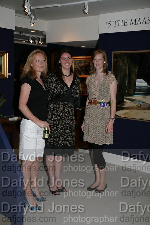 Anna Lort-Phillips, Joanna Ime and Katherine Phillips. New Collectors Evening. Grosvenor House Antiques Fair. Park Lane. 19 June 2007.  -DO NOT ARCHIVE-© Copyright Photograph by Dafydd Jones. 248 Clapham Rd. London SW9 0PZ. Tel 0207 820 0771. www.dafjones.com.
