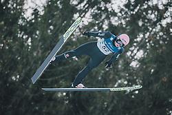 15.02.2020, Kulm, Bad Mitterndorf, AUT, FIS Ski Flug Weltcup, Kulm, Herren, im Bild Karl Geiger (GER) // Karl Geiger of Germany during his Jump for the men's FIS Ski Flying World Cup at the Kulm in Bad Mitterndorf, Austria on 2020/02/15. EXPA Pictures © 2020, PhotoCredit: EXPA/ Dominik Angerer