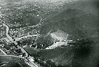 1922 Aerial photo of the Hollywood Bowl