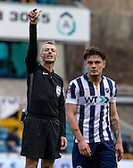 Referee Martin Atkinson during the FA Cup match at The Den, London<br /> Picture by Liam McAvoy/Focus Images Ltd 07413 543156<br /> 29/01/2017