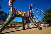 Sculpture by Deborah Halpern - Angel. Beside the Yarra River, Melbourne, Victoria, Australia