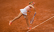 Sofia Kenin of the United States in action against Petra Kvitova of the Czech Republic during the semi-final of the Roland Garros 2020, Grand Slam tennis tournament, on October 8, 2020 at Roland Garros stadium in Paris, France - Photo Rob Prange / Spain ProSportsImages / DPPI / ProSportsImages / DPPI