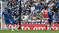 Football - 2017 FA Cup Final - Arsenal vs. Chelsea<br /> <br /> Granit Xhaka of Arsenal with a volley from distance at Wembley.<br /> <br /> COLORSPORT/DANIEL BEARHAM