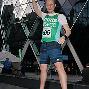London, England, UK. Actor Christopher Harper participate The Gherkin Challenge at the The Gherkin rise fund for NSPCC help children across the UK to rebuild their lives.