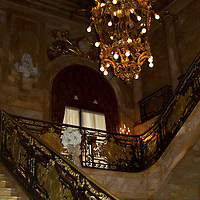 Marble staircase at Marble mansion in Newport, Rhode Island