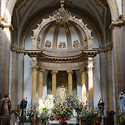 The Iglesia de San Bernardo, just a couple of blocks from Mexico's main plaza, the Zocalo, dates back to the 17th century and was originally part of a convent complex. The convent was closed in the 19th century, leaving only the church.