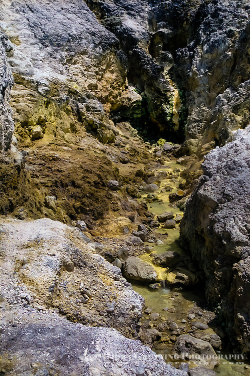 Indonesia, Sumatra. Samosir. Mata air panas hot springs is a volcanic landscape on the mainland of Sumatra, just across Samosir Island.