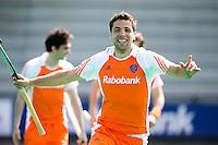 ROTTERDAM - HOCKEY -  ILLUSTRATIE - Vreugde bij Valentin Verga  voor de oefenwedstrijd tussen de mannen van Nederland en Engeland (2-1) . FOTO KOEN SUYK