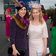 08.10.17.            <br /> Pictured at Limerick Racecourse for the  Keanes Most Stylish Lady competition were, Ailish McElroy and Joanne Callinan. Picture: Alan Place