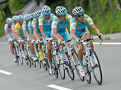 05.07.2011, AUT, 63. OESTERREICH RUNDFAHRT, 3. ETAPPE, KITZBUEHEL-PRAEGRATEN, im Bild das Team Astana mit Fredrik Kessiakoff, (SWE, Pro Team Astana) // during the 63rd Tour of Austria, Stage 3, 2011/07/05, EXPA Pictures © 2011, PhotoCredit: EXPA/ S. Zangrando