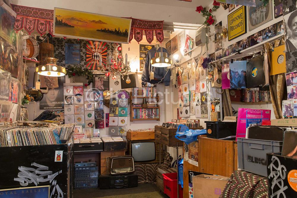 Eldica, a retro East London record shop on the 28th March 2018 in Dalston in the United Kingdom.