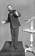 John Philip Sousa (1854-1932) American march composer and bandmaster, conducting his 'Washington Post'. Picture published London 1903. Halftone.