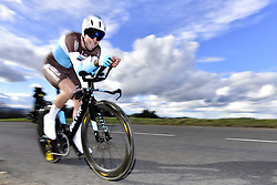 March 7, 2018 - Saint Etienne, France - SAINT-ETIENNE, FRANCE - MARCH 7 : GALLOPIN Tony  (FRA)  of AG2R La Mondiale in action during stage 4 of the 2018 Paris - Nice cycling race, an individual time trial over 18,4 km from La Fouillouse to Saint-Etienne on March 07, 2018 in Saint-Etienne, France, 7/03/2018 (Credit Image: © Panoramic via ZUMA Press)