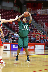 06 December 2008: Shana McKinney takes s shot from the top of the key during a game between the Eastern Michigan Eagles and the Illinois State Redbirds on Doug Collins Court inside Redbird Arena on the campus of Illinois State University, Normal Il.