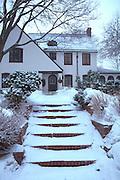 Snowy family dwelling.  St Paul Minnesota USA