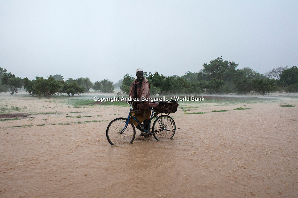 Burkina Faso, Plateau Central.  Floods during the rainy season increase the toll on the land.
