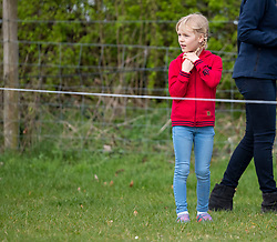 Isla Phillips before watching her Aunt, Zara Tindall, compete at the Land Rover Gatcombe Horse Trials on the estate of the Princess Royal.