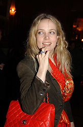 BAY GARNETT at a party hosted by jewellers Adler to celebrate 20 years in London held at 5 Cavendish Square, London on 4th May 2005.<br /><br />NON EXCLUSIVE - WORLD RIGHTS