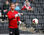 Simon Moore of Sheffield Utd during the English League One match at  Stadium MK, Milton Keynes. Picture date: April 22nd 2017. Pic credit should read: Simon Bellis/Sportimage