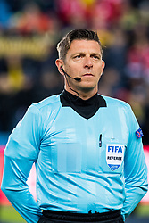 March 26, 2019 - Oslo, NORWAY - 190326 Referee Gianluca Rocchi of Italy ahead of the UEFA Euro qualifier football match between Norway and Sweden on March 26, 2019 in Oslo..Photo: Jon Olav Nesvold / BILDBYRÃ…N / kod JE / 160435 (Credit Image: © Jon Olav Nesvold/Bildbyran via ZUMA Press)