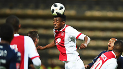 Cape Town-180411 Ajax Cape Town defender Isaac Nhlapho clears an aerial ball against Wits  in a PSL match played at Athlone stadium.photographer:Phando Jikelo/African News Agency/ANA