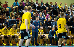 Ivan Vajdl, head coach of Gorenje during handball match between RK Gorenje Velenje and HSV Hamburg (GER) in 8th Round of EHF Champions League 2014 on February 5, 2014 in Rdeca Dvorana, Velenje, Slovenia. Photo by Vid Ponikvar / Sportida