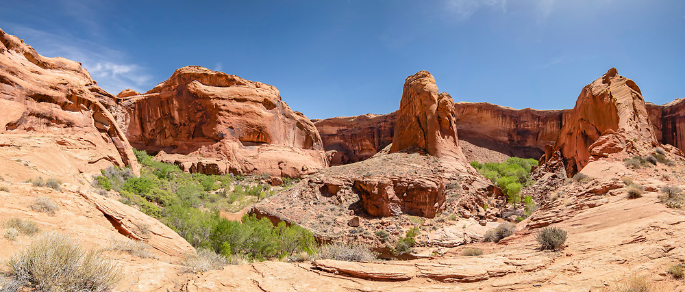 Dramatic view of Coyote Gulch.