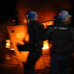 Centre National d'Entraînement des Forces de Gendarmerie (CNEFG) à Saint Astier. Formation continue des escadrons de Gendarmerie Mobile.