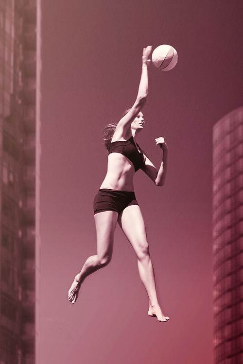 Professional Volleyball Player Alesha Deesing. Sport action shots taken in Portland, Oregon. ©justinalexanderbartels.com