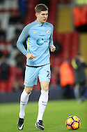 John Stones of Manchester City before the English Premier League match at Anfield Stadium, Liverpool. Picture date: December 31st, 2016. Photo credit should read: Lynne Cameron/Sportimage