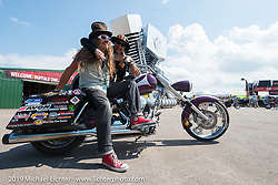 Bean're at the Sturgis Buffalo Chip's Crossroads area by their west gate during the annual Black Hills Motorcycle Rally. SD, USA. August 7, 2014.  Photography ©2014 Michael Lichter.