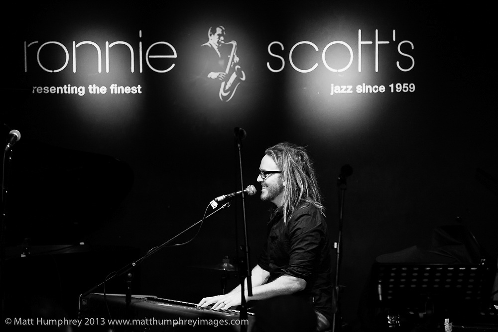 Tim Minchin during performance for BBC Radio 2 pilot of 'Joe Stilgoe: One Night Stand' at Ronnie Scott's Jazz Club, London, February 2013. Mandatory credit for all image use online or printed. Copyright and credit to © Matt Humphrey. All rights reserved.