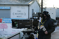Football - 2020 / 2021 Emirates FA Cup - Round Three: Chorley vs. Derby County<br /> <br /> Television cameras cover the warm ups before kick off, at Victory Park.<br /> <br /> COLORSPORT/ALAN MARTIN