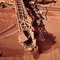 Iron  ore mine; bucket wheel reclaimer