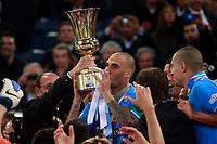 Paolo Cannavaro Napoli con la coppa Tim<br /> Roma 20/05/2012 Stadio Olimpico<br /> Football Calcio 2011/2012 Tim Cup<br /> Finale Final<br /> Juventus vs Napoli<br /> Foto Insidefoto Paolo Nucci