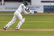 Hassan Azad batting during Day 2 of the LV= Insurance County Championship match between Leicestershire County Cricket Club and Hampshire County Cricket Club at the Uptonsteel County Ground, Leicester, United Kingdom on 9 April 2021.