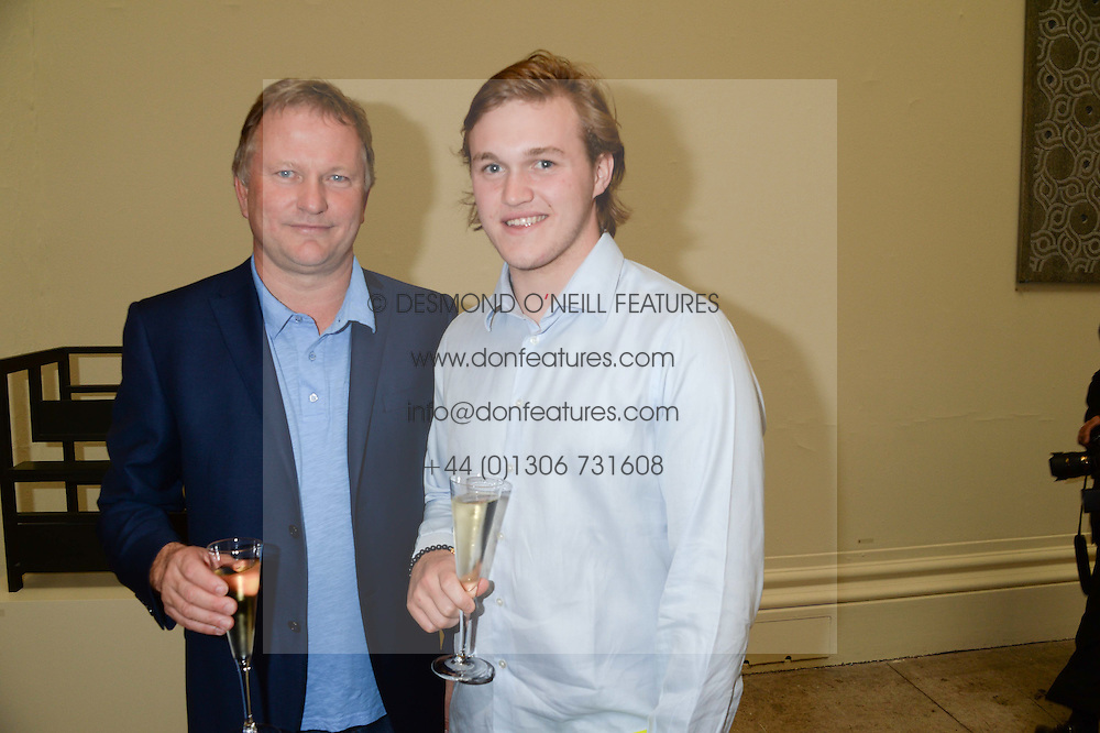 Left to right, NICK JONES and his son OLIVER JONES at the preview party for The Royal Academy Of Arts Summer Exhibition 2013 at Royal Academy of Arts, London on 5th June 2013.