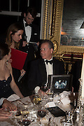 VISCOUNT LINLEY, Professor Mikhail Piotrovsky Director of the State Hermitage Museum, St. Petersburg and <br /> Inna Bazhenova Founder of In Artibus and the new owner of the Art Newspaper worldwide<br /> host THE HERMITAGE FOUNDATION GALA BANQUET<br /> GALA DINNER <br /> Spencer House, St. James's Place, London<br /> 15 April 2015