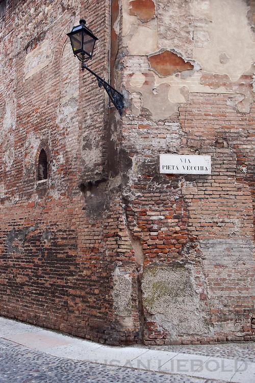 A street corner in Verona, Italy.