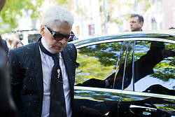 Guests arrival at the Fendi show during the Milan Fashion Week 2017 on September 21, 2017. 21 Sep 2017 Pictured: Karl Lagerfeld arrives at the Fendi show during the Milan Fashion Week 2017 on September 21, 2017. Photo credit: Stefano Costantino / MEGA TheMegaAgency.com +1 888 505 6342