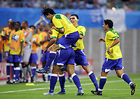 Fotball, 16. juni 2005, <br /> Conferderations Cup Brasil - Hellas<br /> 1:0 Jubel Brasil<br /> <br />  Norway only