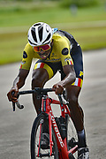 Rider pushes through a hard race